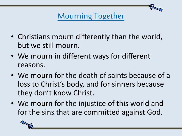 Mourning Together