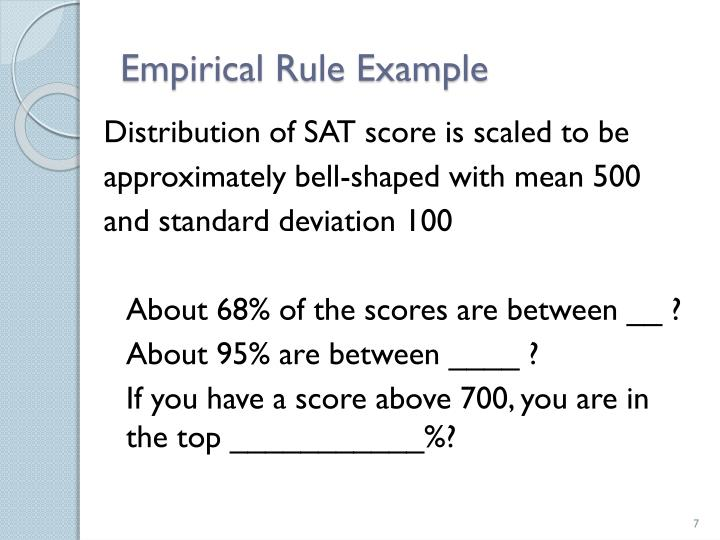 Empirical Rule Example