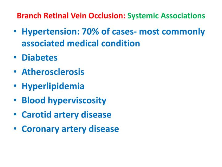 Branch Retinal Vein Occlusion: