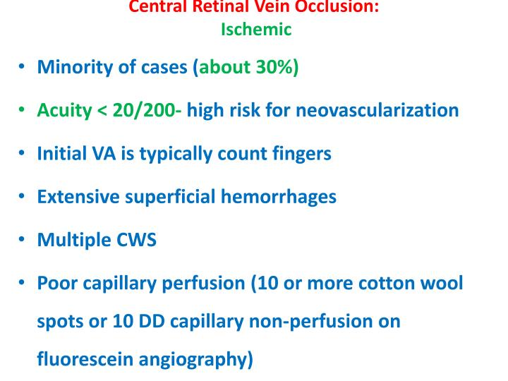 Central Retinal Vein Occlusion: