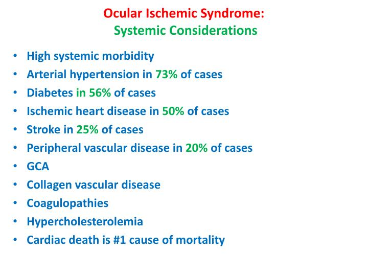 Ocular Ischemic Syndrome: