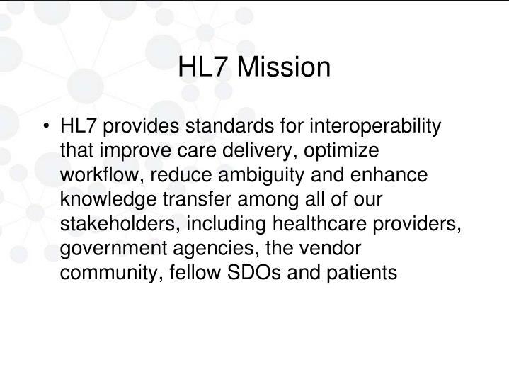 HL7 Mission