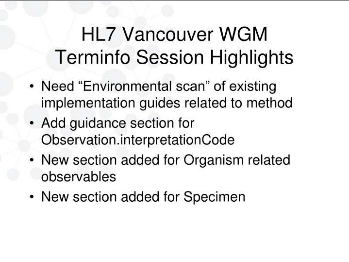 HL7 Vancouver WGM