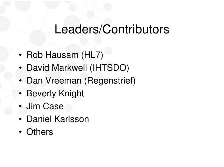 Leaders/Contributors