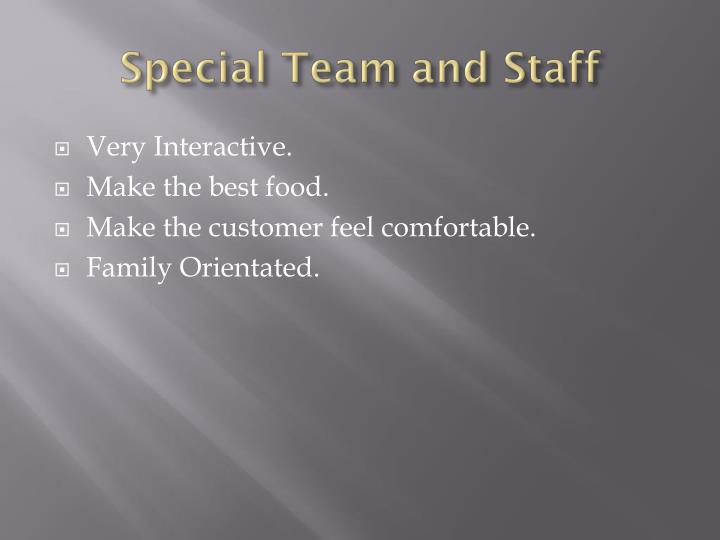 Special Team and Staff