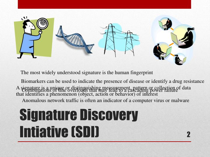 The most widely understood signature is the human fingerprint