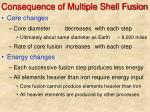consequence of multiple shell fusion