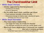 the chandrasekhar limit