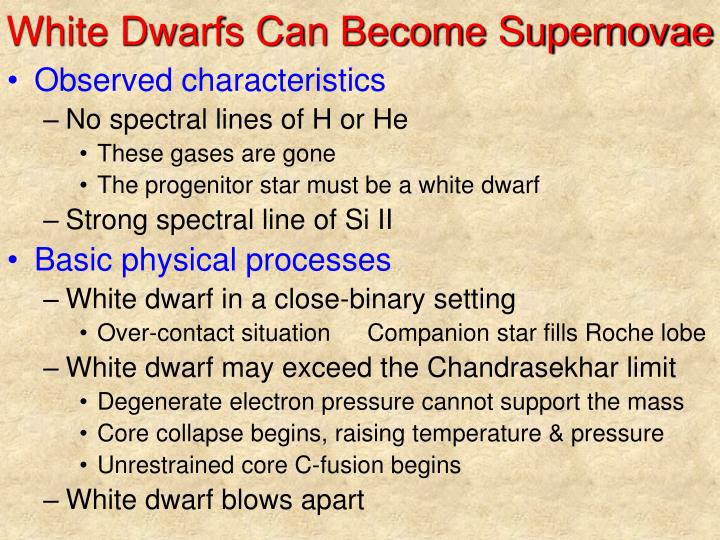 White Dwarfs Can Become Supernovae