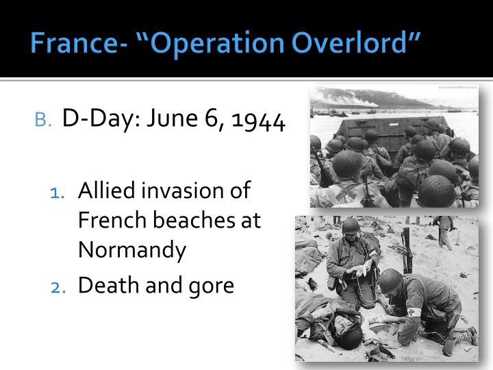 "France- ""Operation"