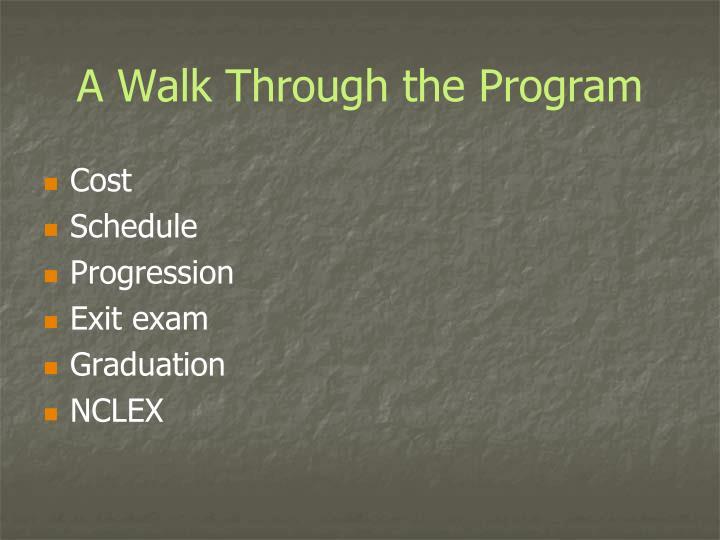 A Walk Through the Program