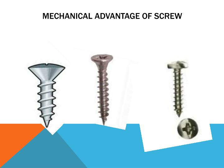Mechanical advantage of screw