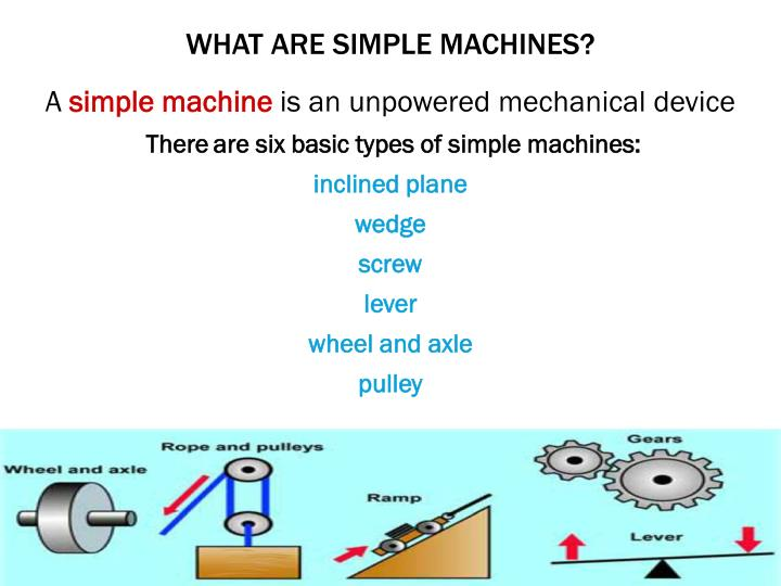 What are simple machines