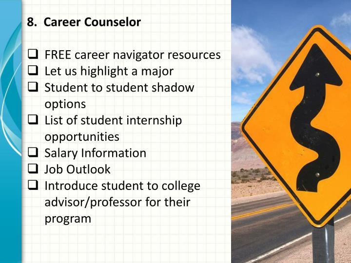 8.  Career Counselor