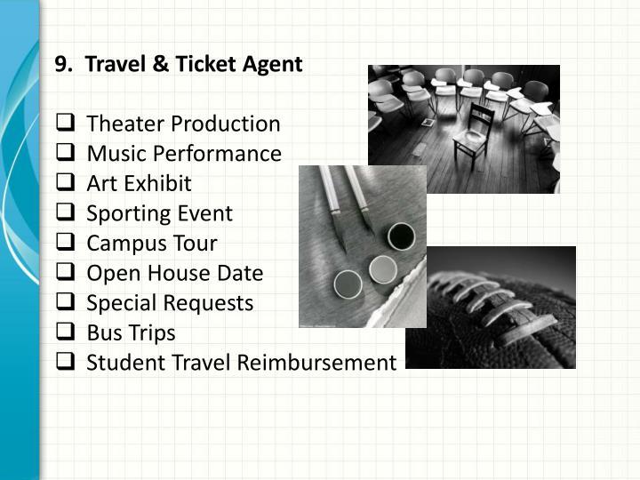 9.  Travel & Ticket Agent