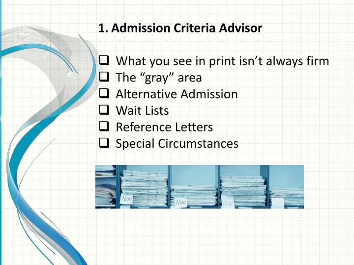 Admission Criteria Advisor