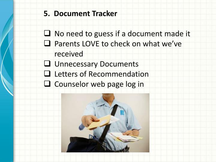 5.  Document Tracker