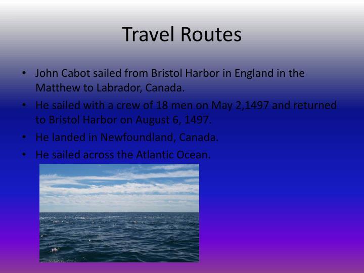 Travel Routes