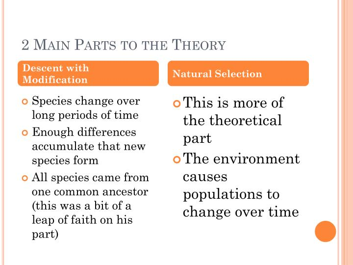 2 Main Parts to the Theory