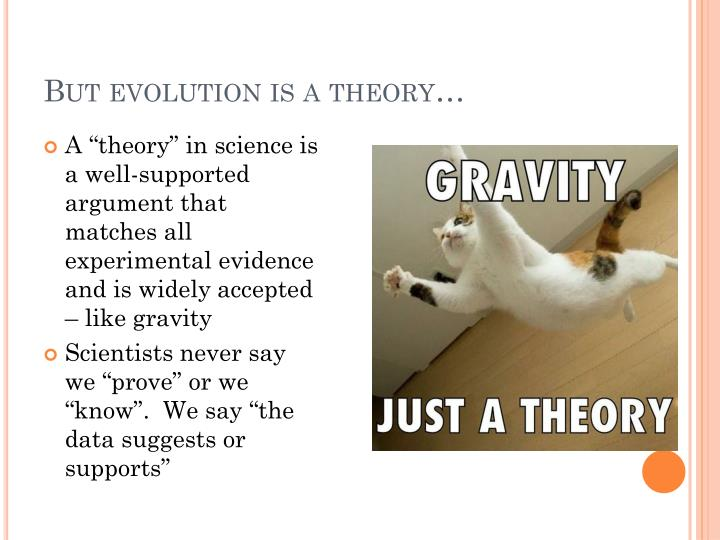 But evolution is a theory…