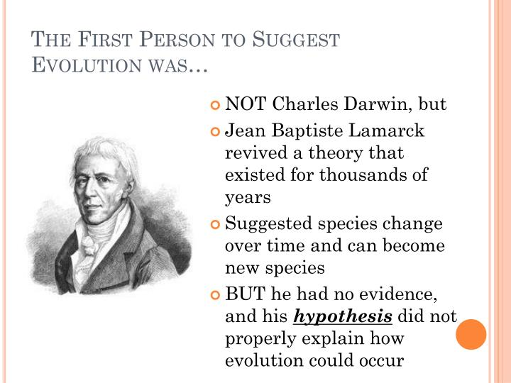 The First Person to Suggest Evolution was…