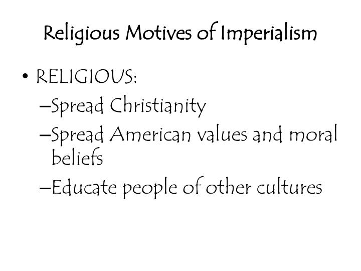Religious Motives of Imperialism