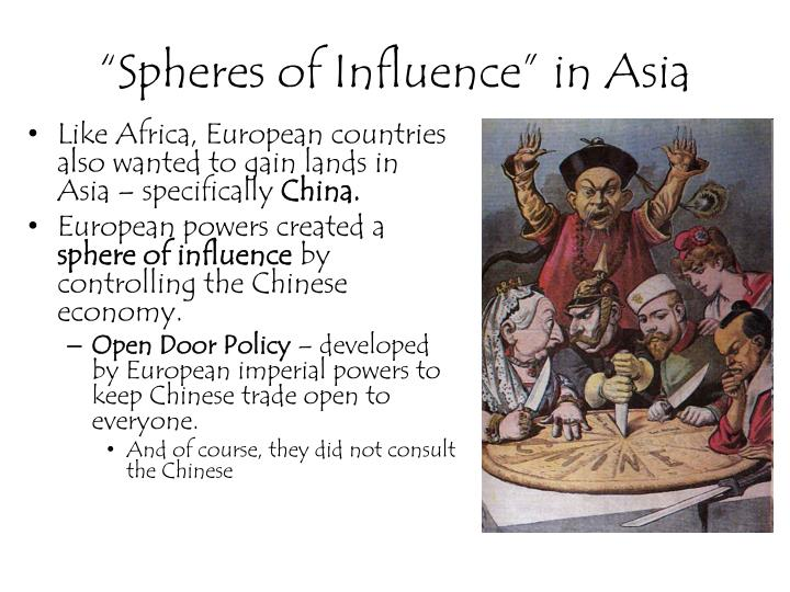 """Spheres of Influence"" in Asia"