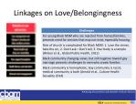 linkages on love belongingness