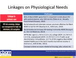 linkages on physiological needs