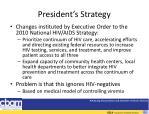 president s strategy