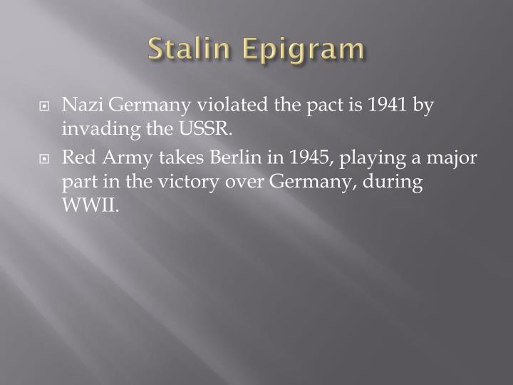 Stalin Epigram