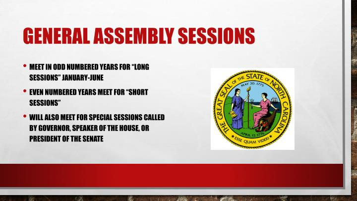 General Assembly Sessions