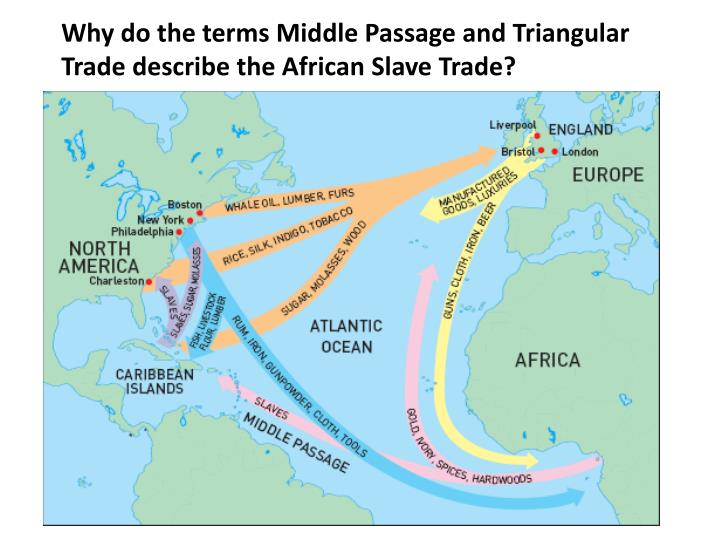 Why do the terms Middle Passage and Triangular Trade describe the African Slave Trade?
