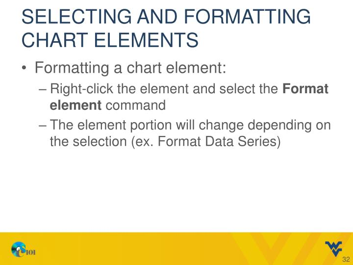 Selecting and Formatting Chart Elements