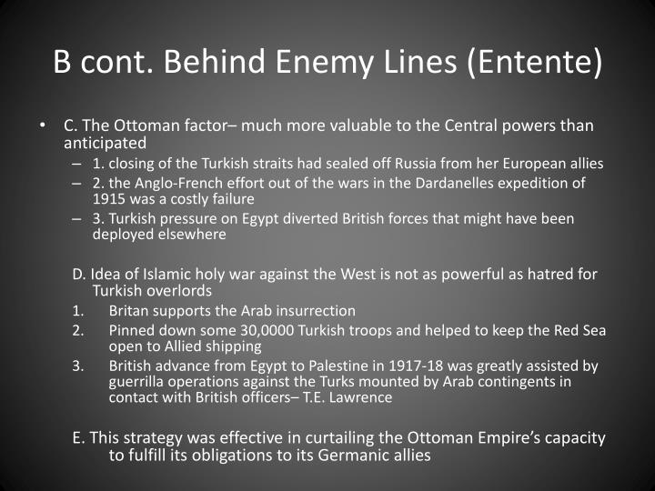 B cont. Behind Enemy Lines (Entente)