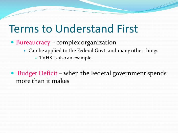 Terms to Understand First