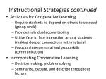 instructional strategies continued