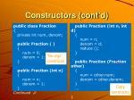 constructors cont d1