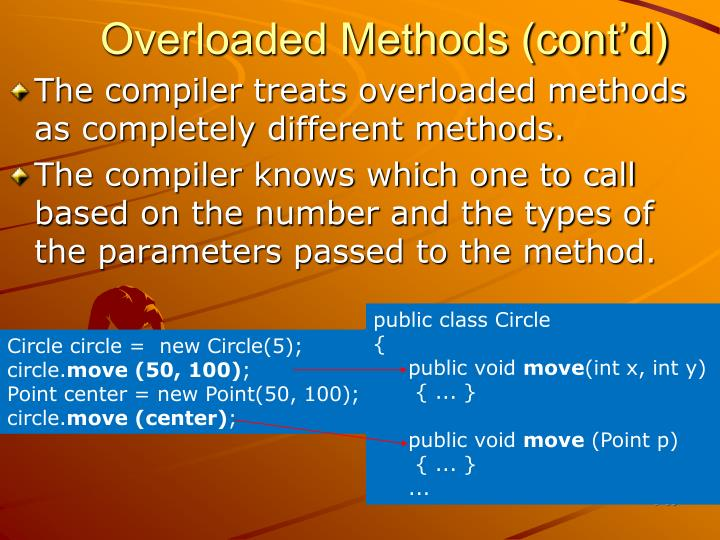 Overloaded Methods (cont'd)