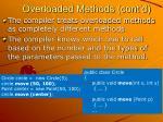 overloaded methods cont d