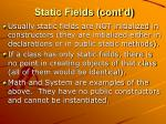 static fields cont d2