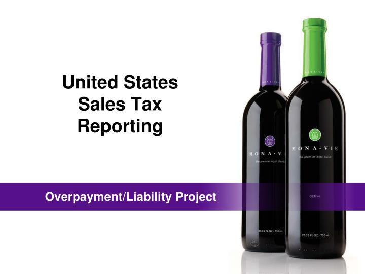 United states sales tax reporting