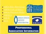 professional association information