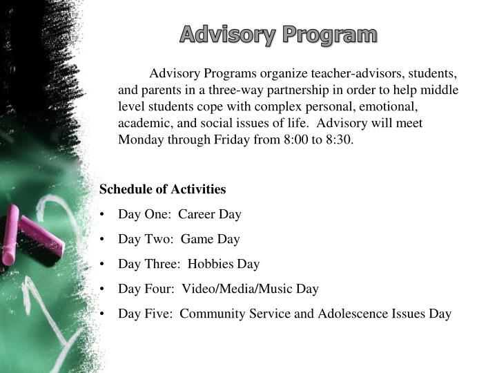 Advisory Program