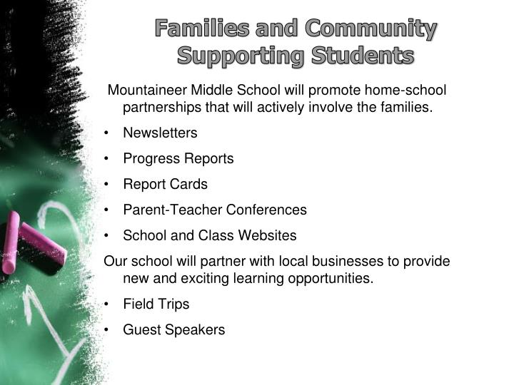 Families and Community Supporting Students