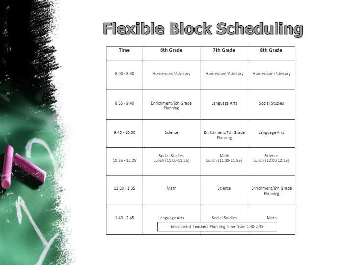 Flexible Block Scheduling
