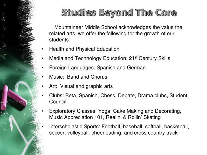 Studies Beyond The Core