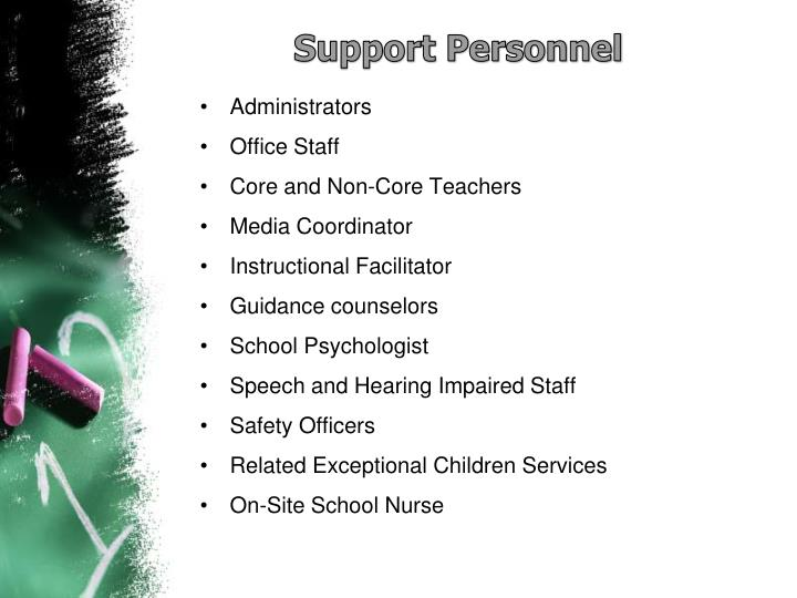 Support Personnel