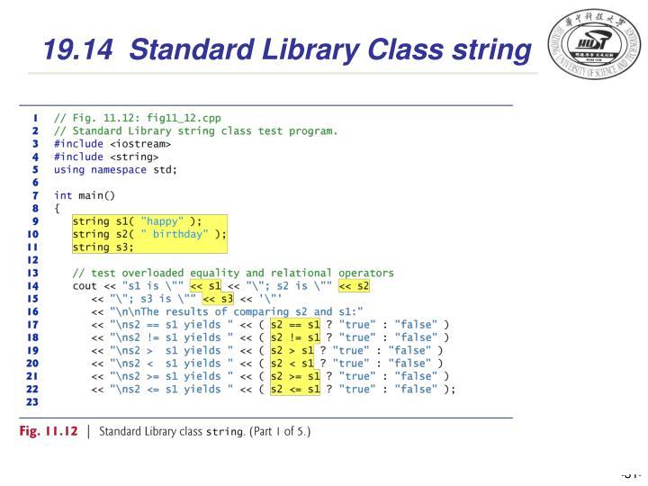 19.14  Standard Library Class