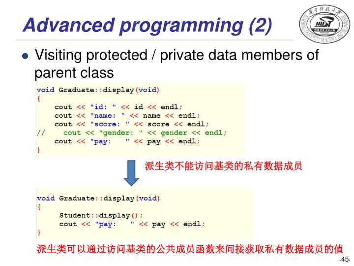 Advanced programming (2)